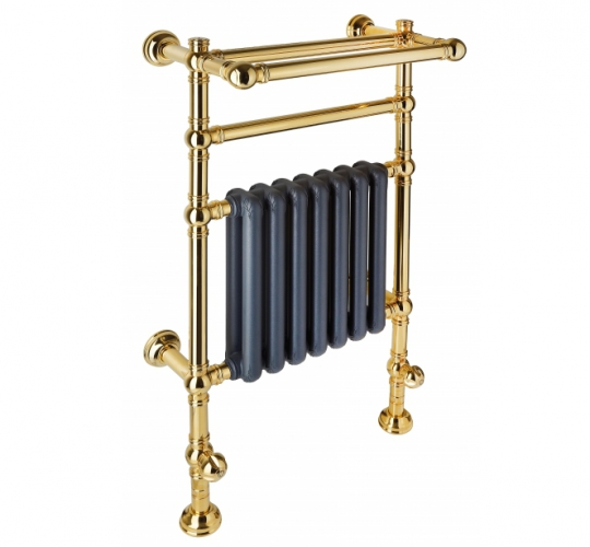 Fixed modular brass heated towel by Margaroli